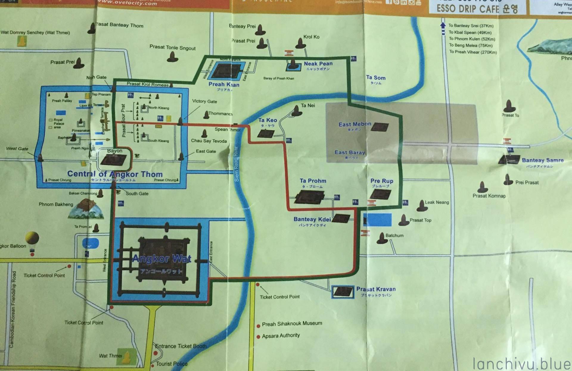 Bản đồ khu di tích Angkor