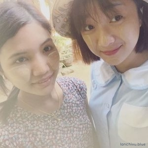 Văn hoá vẽ mặt Thanakha của những cô gái người Myanmar